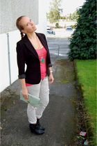 DinSko boots - lindex blazer - H&M purse - Matthew Williamson for H&M necklace