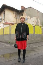 skirt - George Enache blazer - purse - shoes