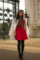 Mango coat - Topshop dress - Zara bag