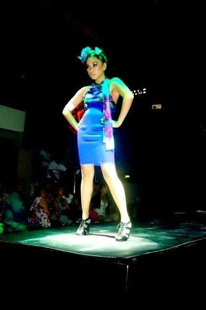 blue DVT designs dress