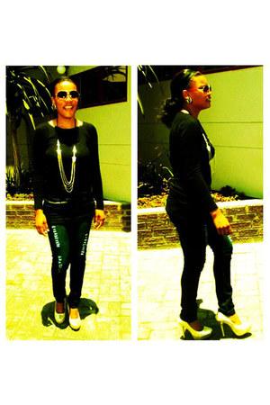 denim Chanel jeans - heels