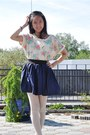 Navy-secondhand-skirt