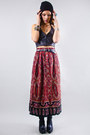 Printed-midi-vintage-skirt
