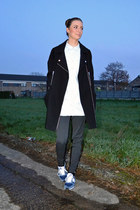 asos coat - Monki shirt - Zara pants - New Balance sneakers