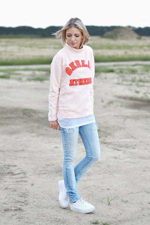 Noisy May sweatshirt - Zara jeans - asos sneakers