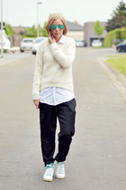 Primark shirt - new look jumper - H&M pants - nike sneakers