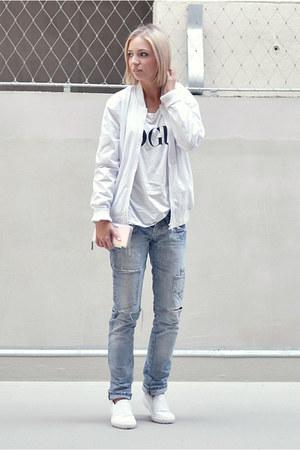 Zara jeans - asos jacket - Zara loafers - Marc by Marc Jacobs wallet