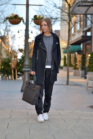asos coat - Mexx sweater - Marc by Marc Jacobs bag - asos wedges