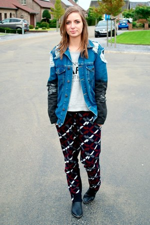 H&M boots - asos jacket - Mango sweatshirt - asos pants