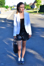 Zara blazer - asos top - New Balance sneakers