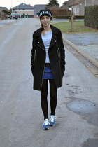 Zara skirt - asos coat - New Balance sneakers