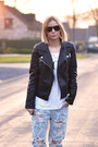 One-teaspoon-jeans-zara-jacket-vogue-t-shirt-asos-sneakers