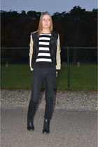 romwe jacket - Ebay boots - we sweater - Zara pants