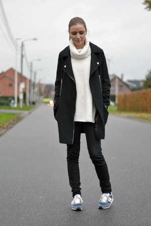 asos coat - GINA TRICOT sweater - New Balance sneakers