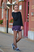 Zara shoes - H&M sweater - Zara shorts