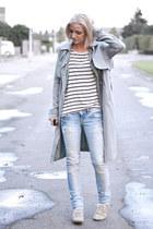 h&m divided top - Maruti shoes - asos coat - Zara jeans