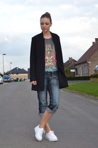 H&M blazer - NewYorker jeans - OASAP t-shirt - asos sneakers