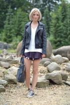 Zara jacket - Marc by Marc Jacobs bag - Zara shorts - Converse sneakers