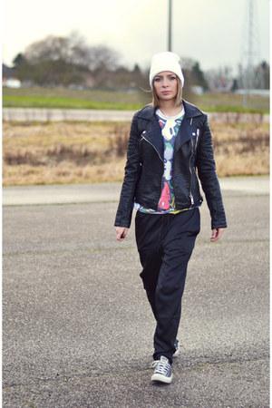 Zara jacket - asos sweatshirt - H&M Trend pants - Converse sneakers