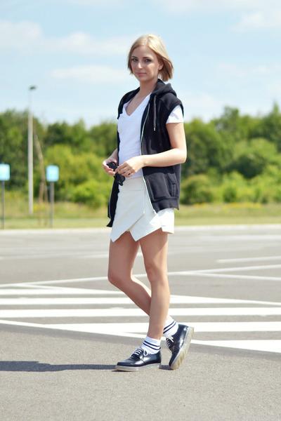 Zara shoes - Zara shorts - asos socks - H&M t-shirt - H&M vest