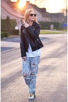One Teaspoon jeans - Zara jacket - Vogue t-shirt - asos sneakers