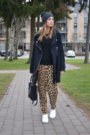asos shoes - asos coat - Cheap Monday hat - H&amp;M sweater - Zara pants