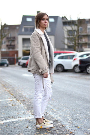 Mango jeans - H&M jacket - Mango sweatshirt - asos sneakers