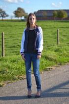 Zara jeans - Zara jacket - Nelly heels