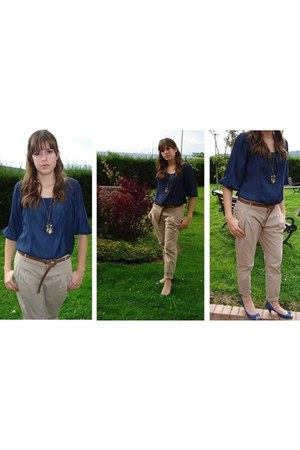 Zara blouse - Zara pants - Zara shoes