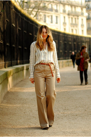 striped & other stories shirt - flare H&M pants