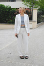 White-h-m-blazer-black-zara-sandals-white-wide-legs-other-stories-pants