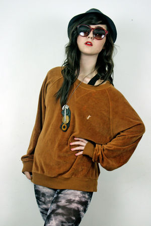 brown Yves Saint Laurant sweater