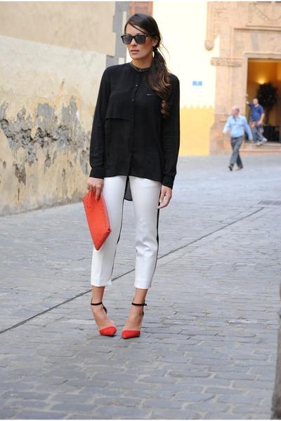 Zara shirt - Zara pants - Zara heels