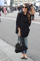 Zara shirt - tory burch flats