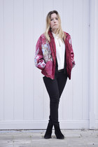 vintage jacket - Zara boots - Bershka jeans - we blazer - Massimo Dutti blouse