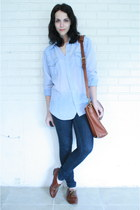 skinny Forever 21 jeans - Twitch Vintage shirt - coach bag - lace up oxfords Ste