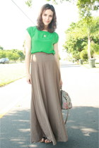 chartreuse Twitch Vintage blouse - heather gray carpet thrifted bag