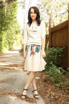 heather gray worn as skirt BCBG dress
