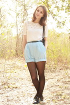 ivory lace bib httpstoresebaycomTwitchVintage sweater - black Target tights - bl