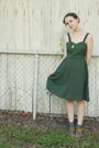 Green-httpstoresebaycomtwitchvintage-dress-gray-target-socks-beige-aldo-shoe