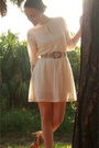 Beige-httpstoresebaycomtwitchvintage-dress-beige-vintage-belt-gray-target-so