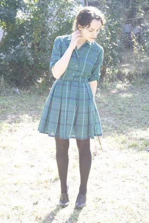 green httpstoresebaycomTwitchVintage dress - black Target tights - black Ross sh