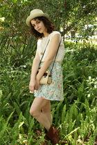 white vintage blouse - green httpstoresebaycomTwitchVintage skirt - brown Foreve