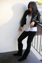 H&M jacket - calvin klein top - American Apparel tights - Steve Madden shoes