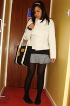 Topshop jacket - mossimo supply co top - H&M skirt - Primark tights - Steve Madd