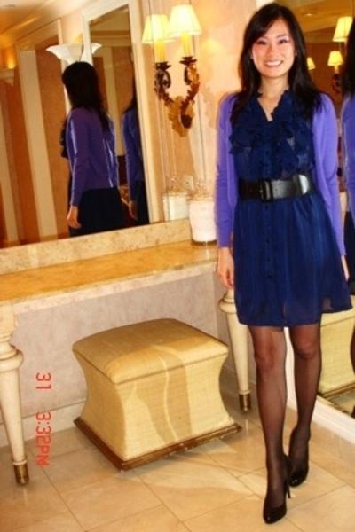 black round toe pump Steve Madden shoes - blue dress