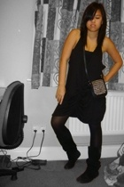 Benefit dress - American Apparel bra - Topshop purse - Primark tights - Steve Ma