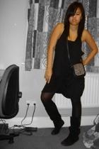 Benefit dress - American Apparel bra - Topshop purse - Primark tights - Steve Ma