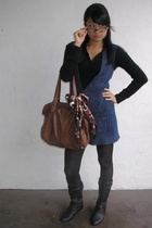 Wet Seal vest - forever 21 shirt - Old Navy tights - Chinese Laundry shoes