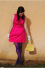 Pink-dillards-dress-purple-steve-madden-tights-blue-bitten-by-sjp-shoes-ye